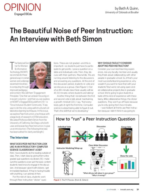 Beautiful Noise of Peer Instruction, Thumbnail