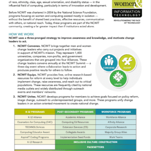 One-Pager: NCWIT
