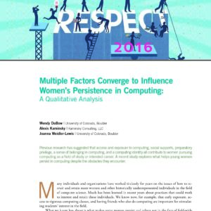 Multiple Factors Converge to Influence Women's Persistence in Computing: A Qualitative Analysis