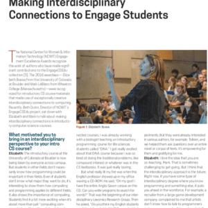 Making Interdisciplinary Connections to Engage Students