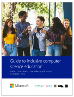 Small image of report cover with several students chatting in a group