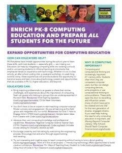 Enrich PK-8 Computing Education