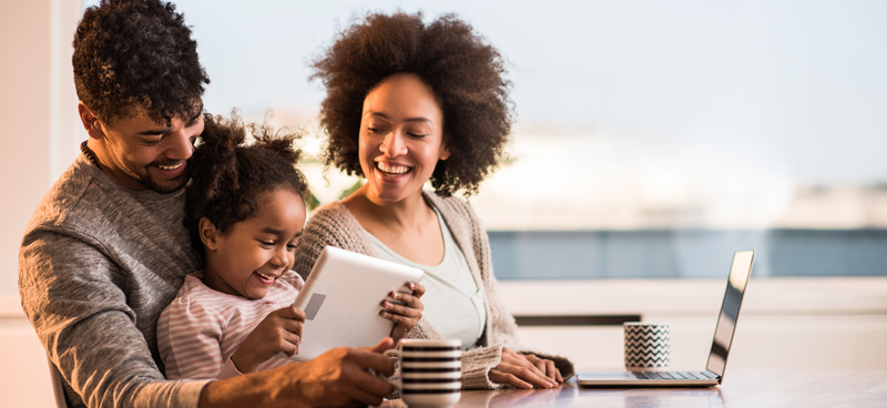 Family With Tablet Photo