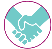 tips worklife employees shaking hands circle