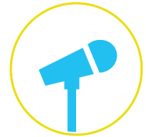 tips inclusive conferences microphone circle thumb