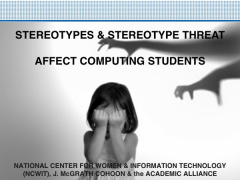 stereotype threat ppt Cover