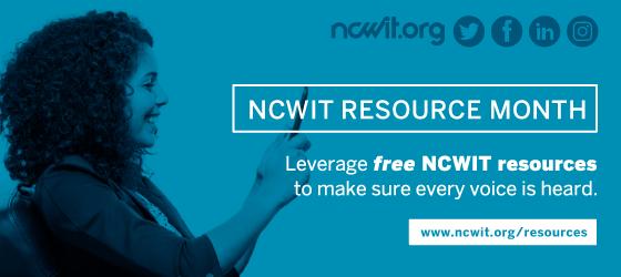 NCWIT Resource Month