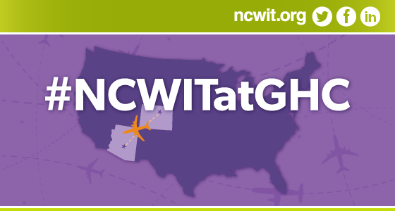 Yes, we'll be there: #NCWITatGHC