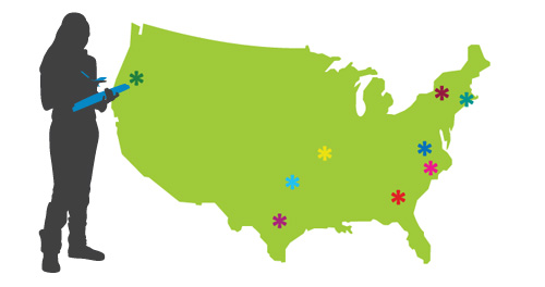 Nine States Map