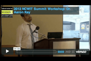 NCWIT 2012 Summit - Workshop, Dr. Aaron Kay