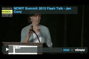 NCWIT 2012 Summit - Flash Talk, Jan Cuny