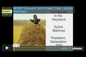 NCWIT 2012 Summit - Flash Talk, Sylvia Martinez