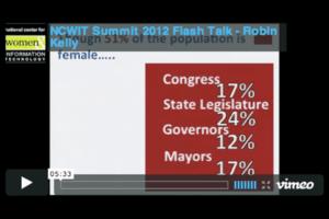 NCWIT 2012 Summit - Flash Talk, Robin Kelly