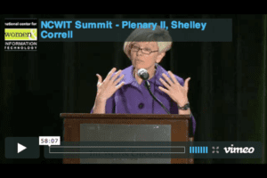 NCWIT 2012 Summit - Plenary 2, Shelley Correll
