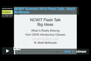 NCWIT 2012 Summit - Flash Talk, Brett McKenzie