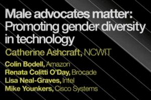 2013 NCWIT Summit - Workshop, Male Advocates Matter: Promoting Gender Diversity in Technology