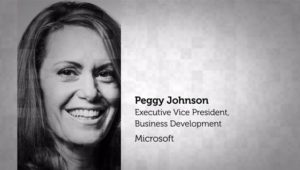 Peggy Johnson, Executive VP of Business Development with Microsoft