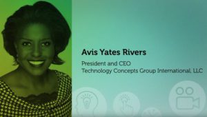 Avis Yates Rivers, President and CEO of Techology Concepts Group International, LLC 2016 NCWIT Summit – NCWIT Harrold and Notkin Research and Graduate Mentoring Award