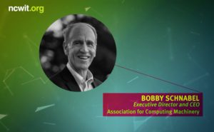 2017 NCWIT Summit - Harrold and Notkin Research and Graduate Mentoring Award with Bobby Schnabel, Executive Director and CEO association for Computing Machinery