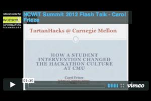 ncwit summit 2012 flash talk carol frieze video cover