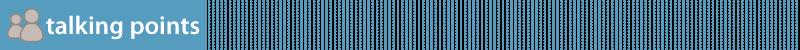 talking points banner blue