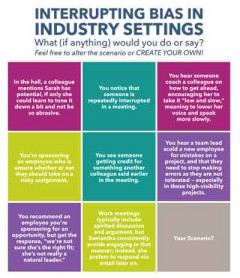 Group Discussion: Interrupting Bias in Industry Settings