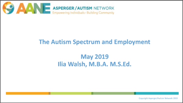 2019 NCWIT Summit - The Autism Spectrum and Employment by Ilia Walsh
