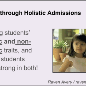 2019 NCWIT Summit Academic Alliance Meeting – Diversity through Holistic Admissions by Raven Avery