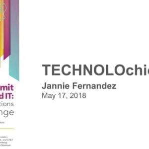 "2018 NCWIT Summit – ""TECHNOLOchicas"" Presentation by Jannie Fernandez"
