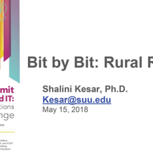 """2018 NCWIT Summit – """"Reaching Rural and Remote Areas Bit by Bit! How to Connect Rural Populations With Resources and Opportunities for Computing Education"""" Workshop by Shalini Kesar"""