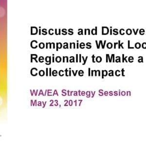 """2017 NCWIT Summit – """"Workforce/Entrepreneurial Alliance Members Discuss and Discover How Companies Work Locally/Regionally to Make a Collective Impact"""" Conversation by Lecia Barker and Judith Spitz, PhD"""