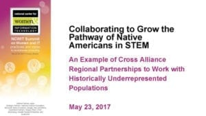 """2017 NCWIT Summit - """"Collaborating to Grow the Pathway of Native Americans in STEM"""" Conversation by Sarah EchoHawk"""