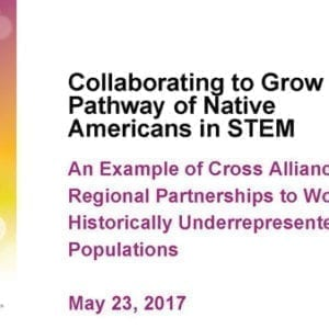 """2017 NCWIT Summit – """"Collaborating to Grow the Pathway of Native Americans in STEM"""" Conversation by Sarah EchoHawk, Dr. Traci Morris, and Joseph Nsengimana"""