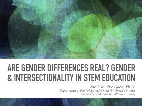 """2017 NCWIT Summit - """"Intersectional Analysis of Gender in STEM Education"""" Workshop by Nicole Else-Quest"""