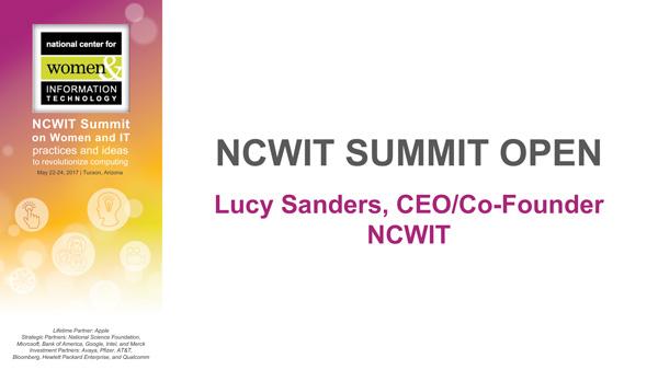 2017 NCWIT Summit - Summit Welcome
