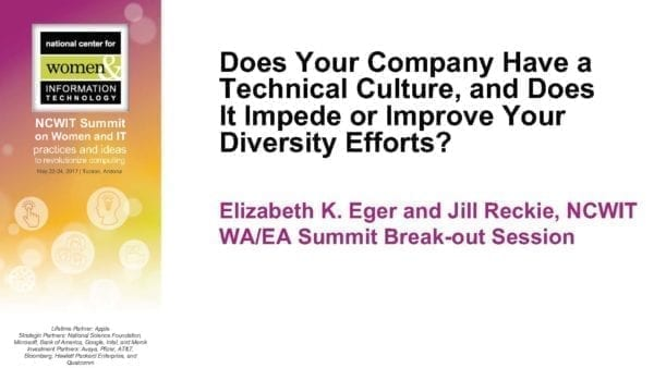 """2017 NCWIT Summit - """"Does Your Company Have a Technical Culture"""