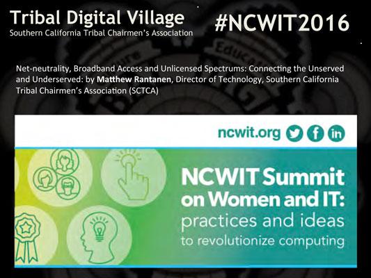 "2016 NCWIT Summit - ""Net-neutrality"