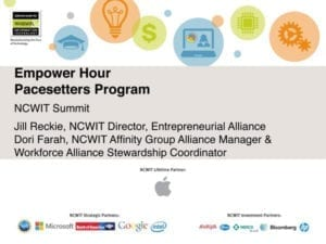 """2015 NCWIT Summit — """"NCWIT Pacesetters"""" Empower Hour"""