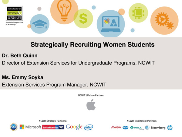 """2015 NCWIT Summit — """"Recruit Students"""" Empower Hour"""