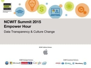 """2015 NCWIT Summit — """"Data Transparency/Cultural Change"""" Empower Hour"""