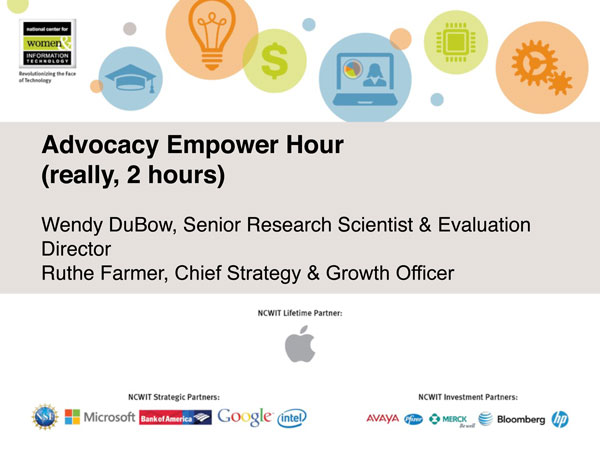 "2015 NCWIT Summit — ""Advocacy"" Empower Hour"
