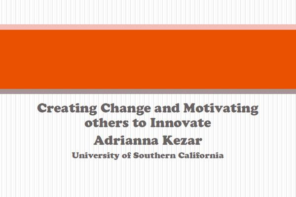 2014 NCWIT Summit – Workshop Slides by Adrianna Kezar