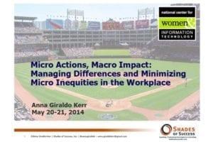 2014 NCWIT Summit – Workshop Slides by Anna Giraldo-Kerr