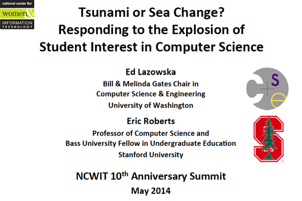 2014 NCWIT Summit – Workshop Slides by Ed Lazowska and Eric Roberts