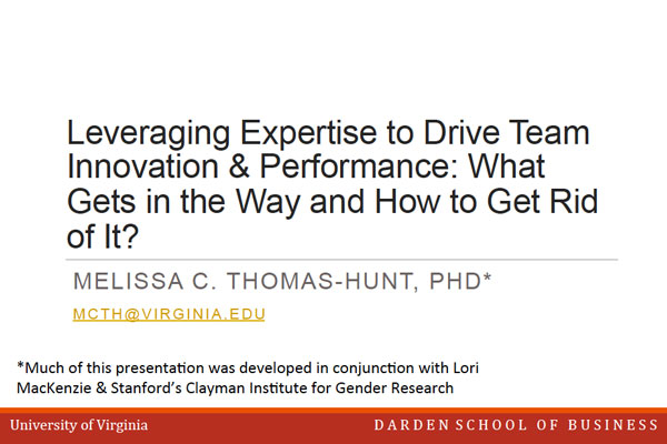 2014 NCWIT Summit – Workshop Slides by Melissa Thomas-Hunt