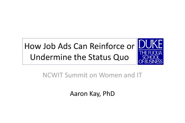 NCWIT 2012 Summit - Workshop Slides