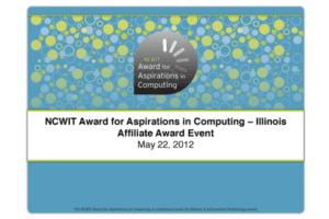 NCWIT 2012 Summit - Aspirations Award Affiliate Slides