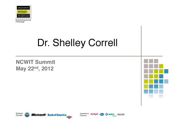 NCWIT 2012 Summit - Plenary 2 Slides