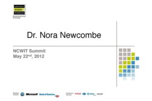 NCWIT 2012 Summit - Plenary 1 Slides