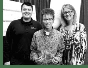 Photo of Award Winner With Educators